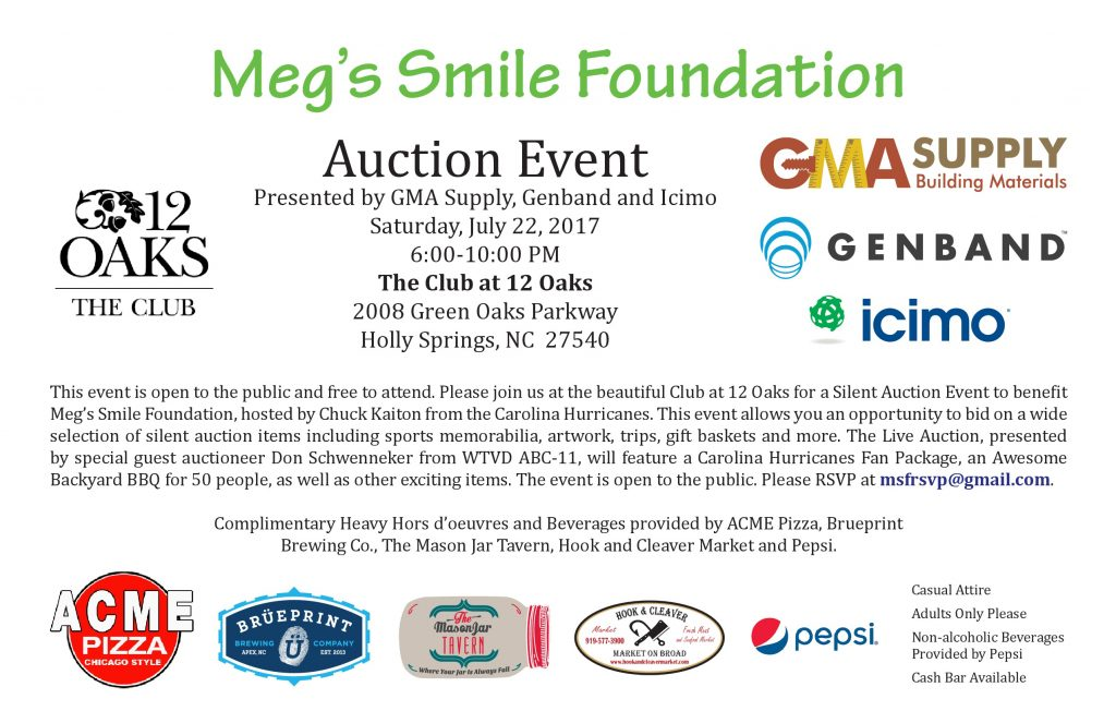 Meg's Smile Auction Event