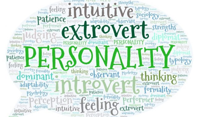 personality traits in a word cloud