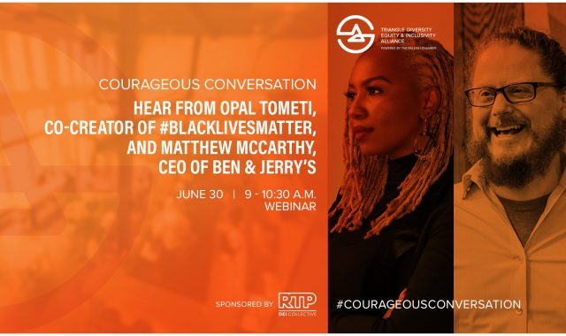 Courageous Conversation Webinar event advertisement