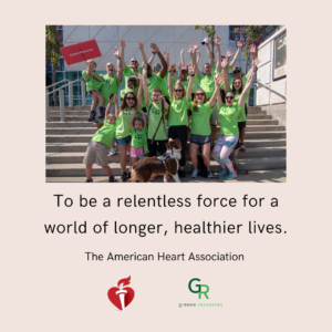 Greene Team members participating in the American Heart Association walk