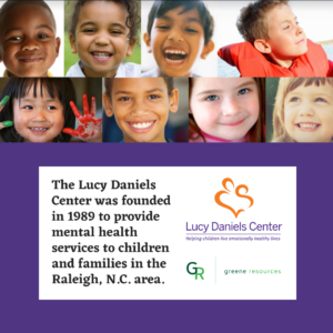 kids smiling at the camera the Lucy Daniel Center mission statement